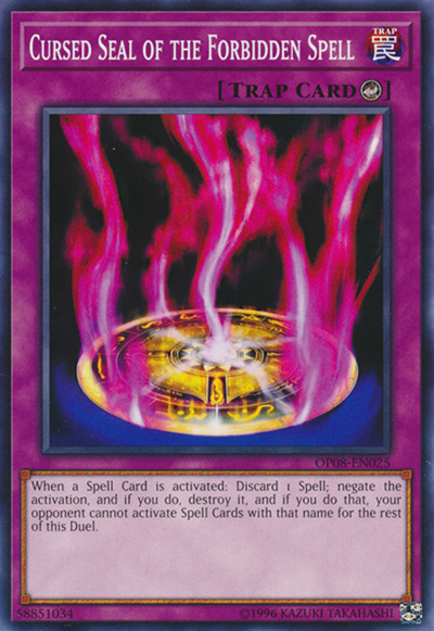 Cursed Seal of the Forbidden Spell YGO Card