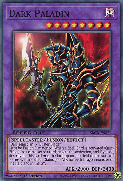 Dark Paladin YGO Card