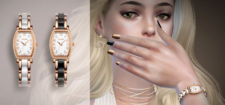 Sims 4 CC: Wrist Watches For Guys & Girls