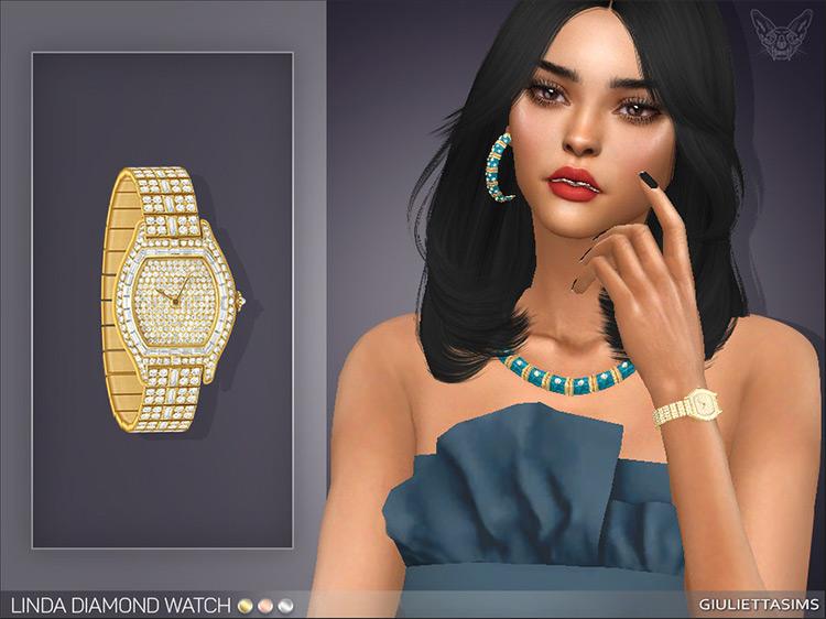 Linda Diamond Watch / Sims 4 CC
