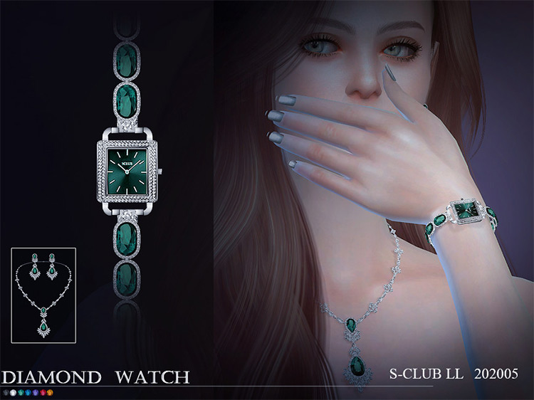 Emerald Watch for The Sims 4