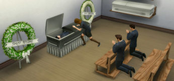 Funeral Chapel Poses in The Sims 4