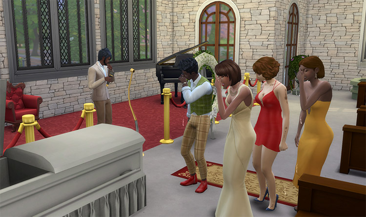 Sims 4 Funeral Mod Preview