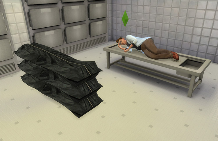 SimCity 4 Morgue Set for The Sims 4