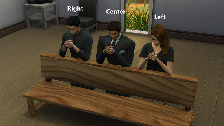 Funeral Chapel Items Pose Pack / TS4