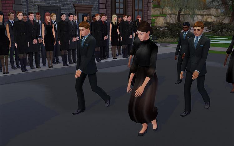 Funeral Deco Sims 4 CC Set