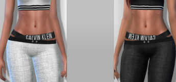 Calvin Klein Girls Sport Outfit CC / Sims 4