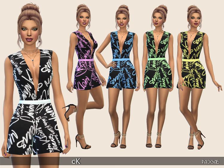 CK Jumpsuit Sims 4 CC