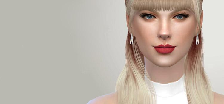 Taylor Swift Custom Build in TS4