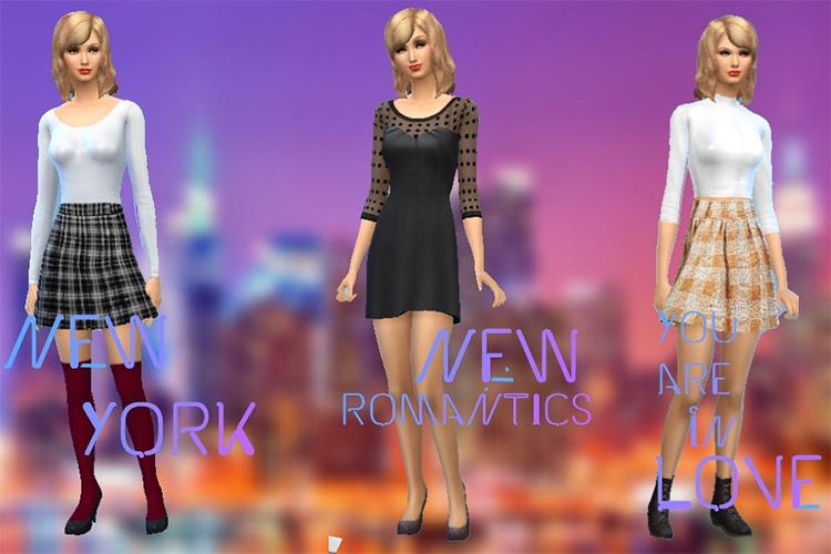 Taylor Swift CC Set Preview for The Sims 4