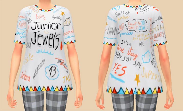 Junior Jewels Tshirt / Sims 4 CC