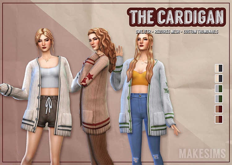 Taylor Swift Cardigan CC for The Sims 4