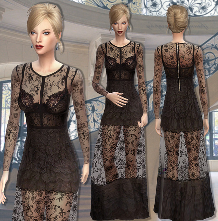 Blank Space Dress CC for The Sims 4