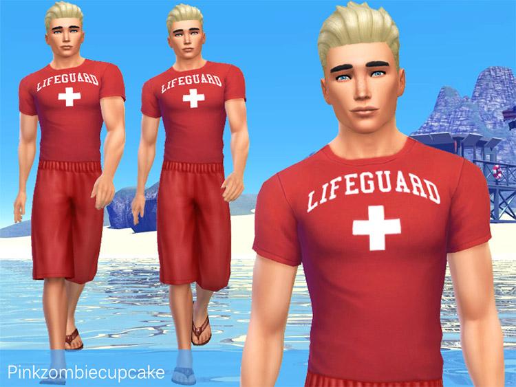 Lifeguard Male Shirts and Shorts / TS4 CC