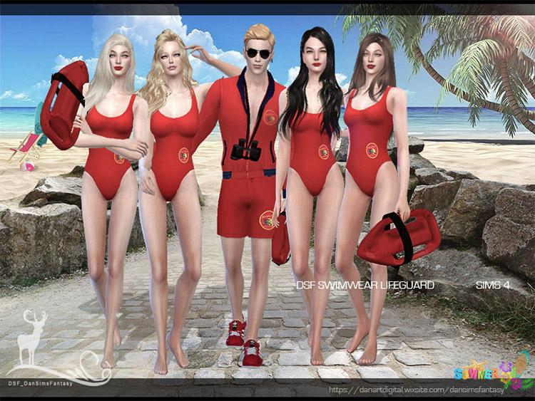DSF Lifeguard Male & Female Clothes CC