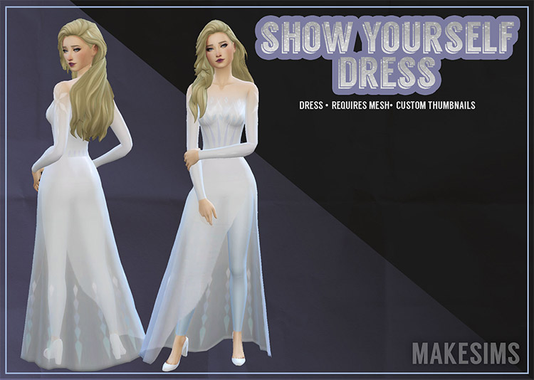 Show Yourself Dress From Frozen / TS4