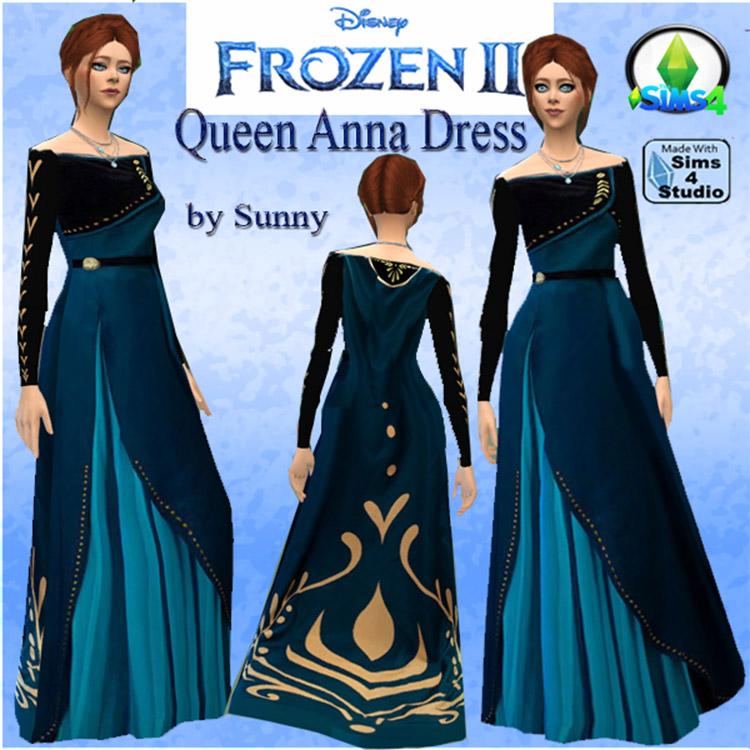 Queen Anna Dress From Frozen / Sims 4 CC