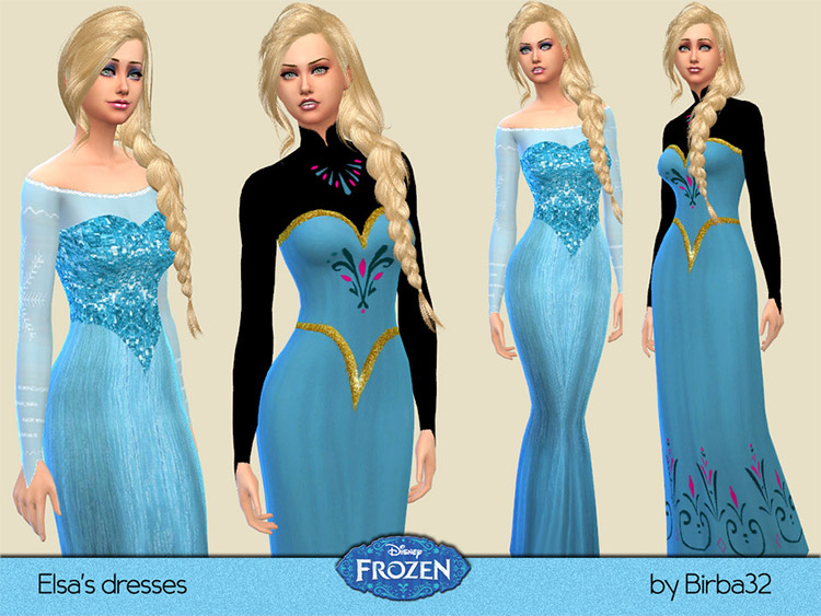 Elsa's Dresses CC Set for The Sims 4