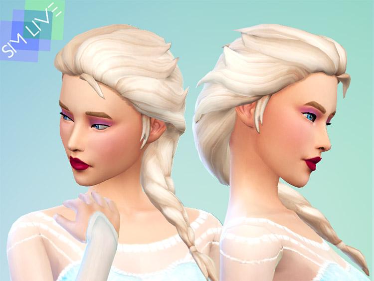 Elsa's Braided Hair CC for The Sims 4