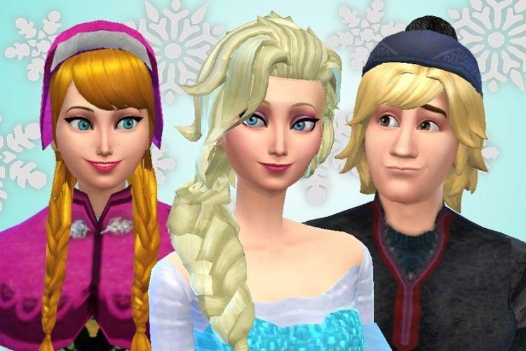 Anna, Elsa & Kristoff CC Modded for TS4