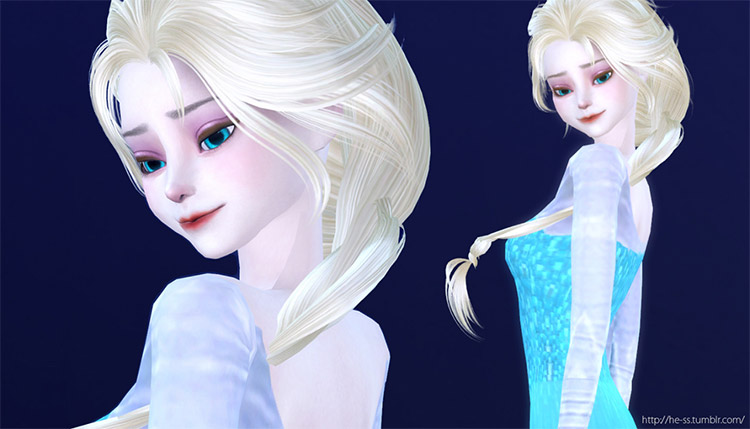 Elsa Pose Pack for The Sims 4