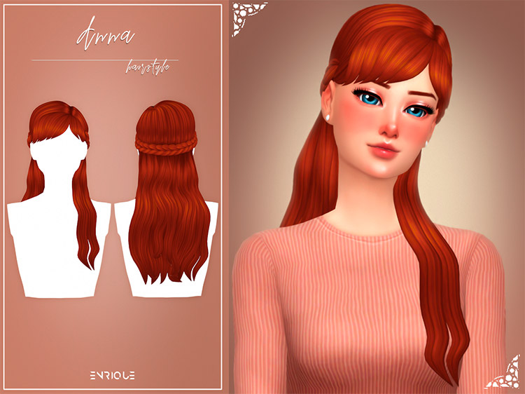 Anna Hairstyle CC for The Sims 4
