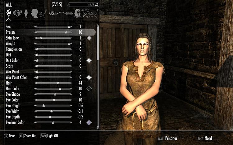 Lydia Face Preset Mod for Skyrim