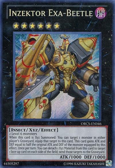 Inzektor Exa-Beetle Yu-Gi-Oh Card