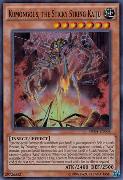 Kumongous, The Sticky String Kaiju YGO Card