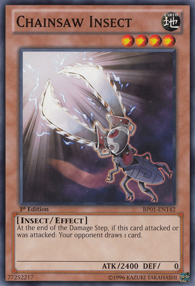 Chainsaw Insect YGO Card