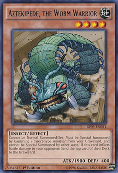 Aztekipede, the Worm Warrior YGO Card
