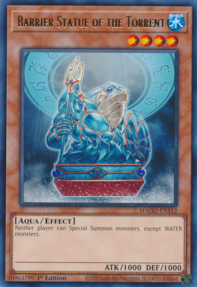Barrier Statue Of The Torrent Yu-Gi-Oh Card