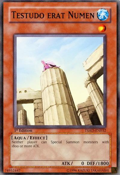 Testudo Erat Numen YGO Card