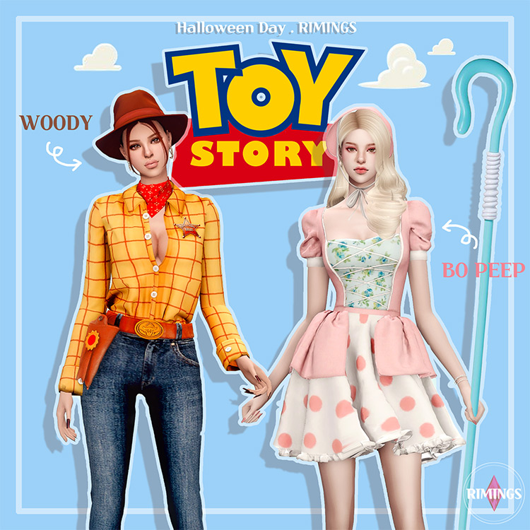Toy Story Halloween Costumes for The Sims 4