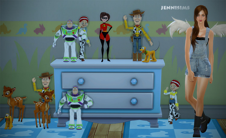 Sims 4: Decorations For Kids Disney / TS4 CC