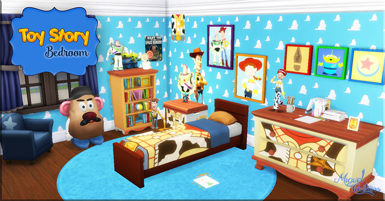 Bedroom CC Set For Toy Story / The Sims 4