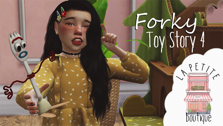 Forky Toy Story 4 (Functional) Sims 4 CC