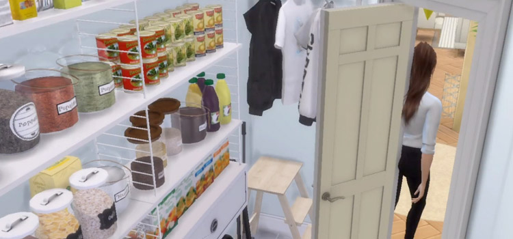 Pantry Interior Build in The Sims 4