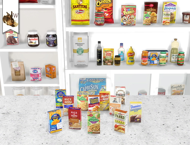The Pantry Collection with Pasta Boxes / TS4 CC