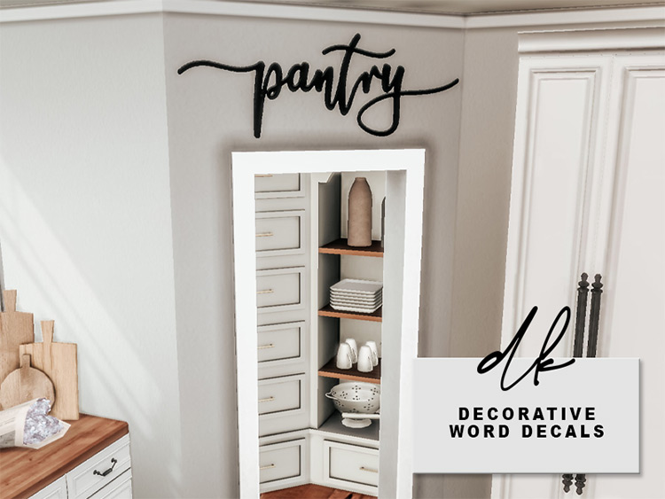Decorative Word Decals / Sims 4 CC