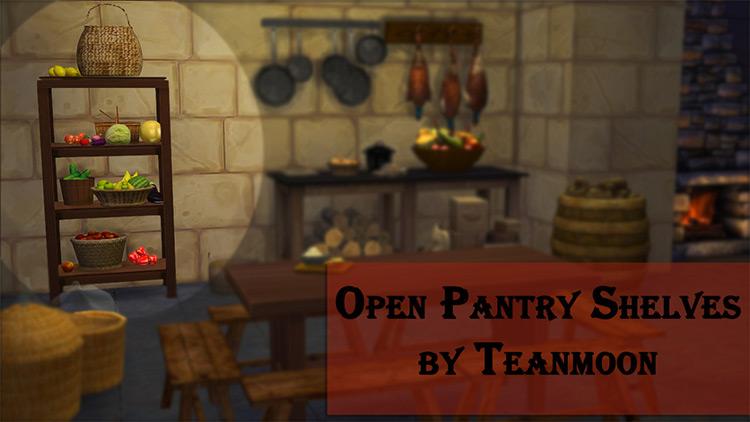 Open Pantry Shelves / TS4 CC