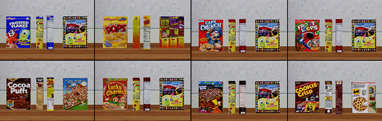 Cereal Boxes Clutter / Sims 4 CC