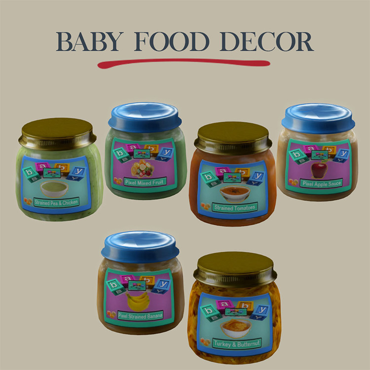 Baby Food Decor for Sims 4