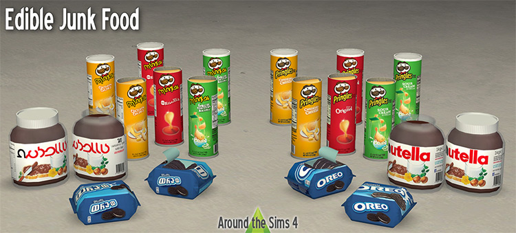 Edible Junk Food Clutter for Sims 4