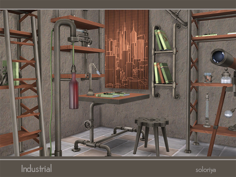 Industrial CC Set for Sims 4