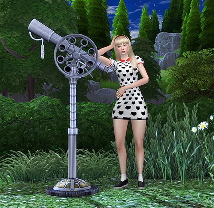 Steampunk Telescope for The Sims 4