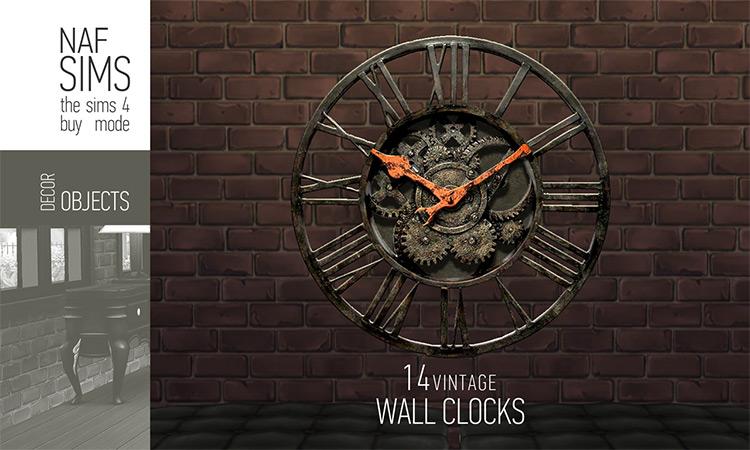 Vintage Wall Clock / Sims 4 CC