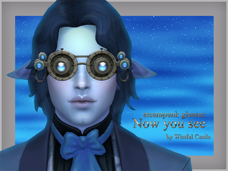 Now You See Steampunk Glasses / TS4 CC