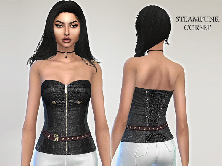 Steampunk Corset for Girls / Sims 4 CC
