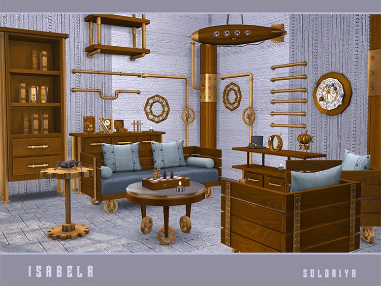 Isabela Steampunk Furniture Set / Sims 4 CC